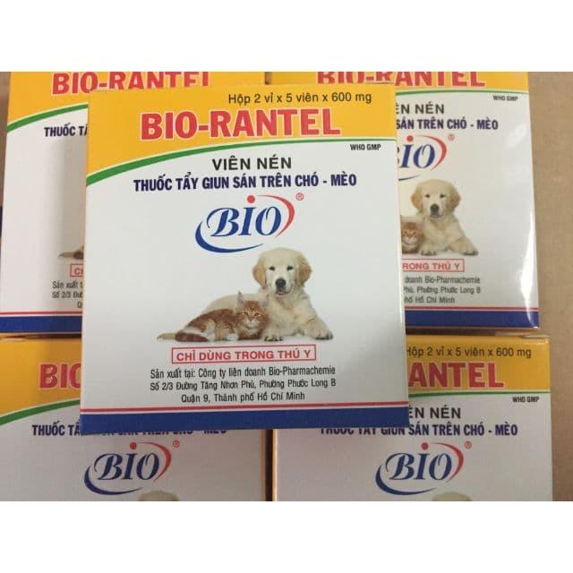 Bio Rantel - một trong những loại thuốc tẩy giun cho chó con tốt nhất hiện nay