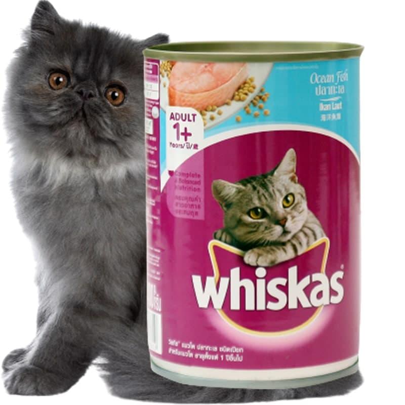 Pate cho mèo whiskas dạng lon 400gr