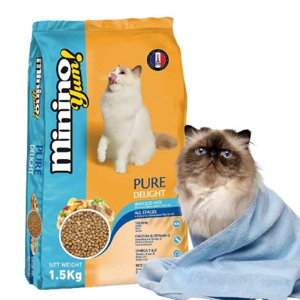 Thức ăn cho mèo Minino Yum sử dụng cho mèo mọi lứa tuổi thuốc tất cả các giống mèo khác nhau