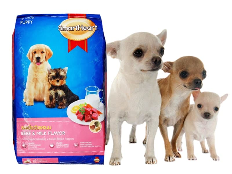 Thức Ăn Khô Cho Chó Con Hương Vị Thịt Bò Và Sữa SmartHeart Puppy