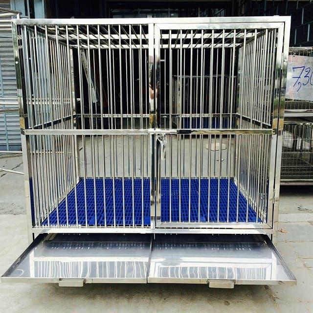 Chuồng chó bằng Inox là sản phẩm được nhiều chủ nuôi tin tưởng và sử dụng cho cún yêu của mình hiện nay