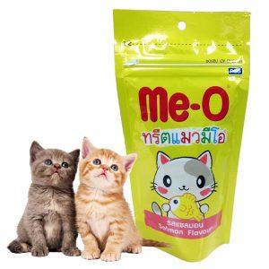 Bánh thưởng Me-O là sản phẩm thức ăn cho mèo cao cấp dành để huấn luyện tập tính, thói quen của loài mèo