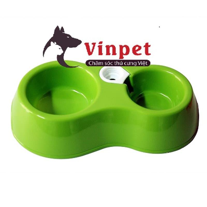 Bát ăn đôi cấp nước tự động cho chó mèo và thú cưng