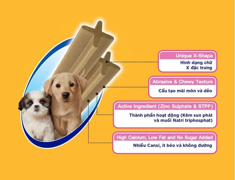 Bổ sung can xi cho chó bằng xương gặm cho chó Pedigree