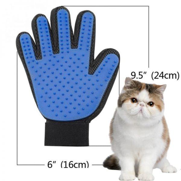 Găng Tay Lấy Lông Cho Chó Mèo vừa có tác dụng lấy lông rụng, chải lông và mát xa cho chó mèo