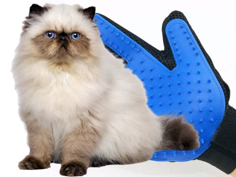 Găng Tay Lấy Lông Cho Chó Mèo có cấu tạo đơn giản, sử dụng dễ dàng