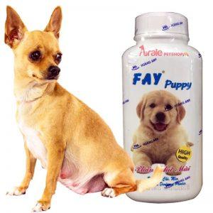 Phấn tắm khô cho chó mèo thương hiệu Fay được sản xuất dành riêng cho những chú chó mèo sợ nước, trời lạnh