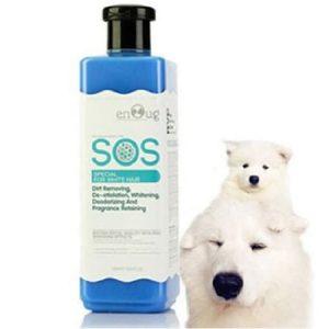 Sữa tắm thú cưng màu xanh dương sos