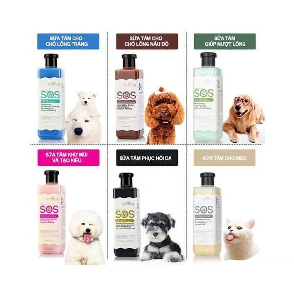 Sữa tắm thú cưng sos được cấu tạo chủ yếu từ các thành phần tự nhiên