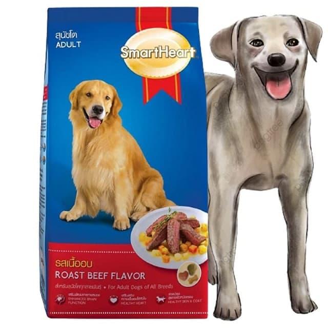 Thức ăn khô cho chó trưởng thành vị thịt bò SmartHeart Adult