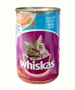 Thức ăn whiskas dạng ướt có nhiều mùi vị, màu sắc giúp mèo dễ nhai và hấp thụ chất dinh dưỡng dễ dàng