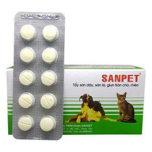 Thuốc tẩy giun sanpet cho chó là loại thuốc được nhiều người khuyên dùng