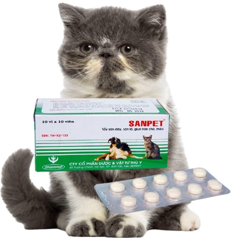 Thuốc tẩy giun sanpet - tẩy sạch giun cho chó mèo hiệu quả