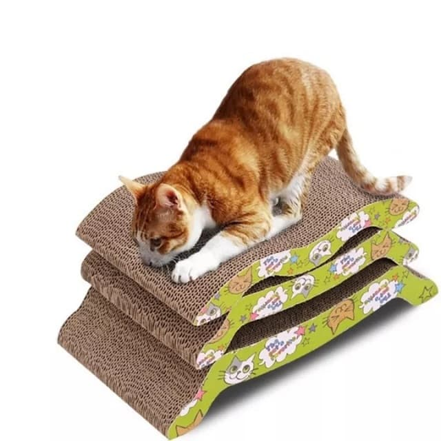 Bàn cào móng chất liệu bìa carton được mọi chú mèo ưa chuộng
