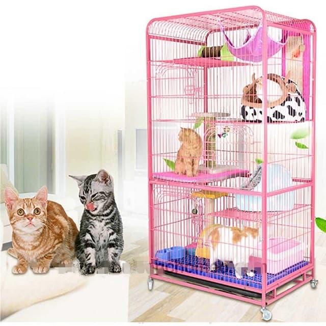 Chuồng mèo 3 tầng thiết kế rộng rãi, kết cấu chắc chắn