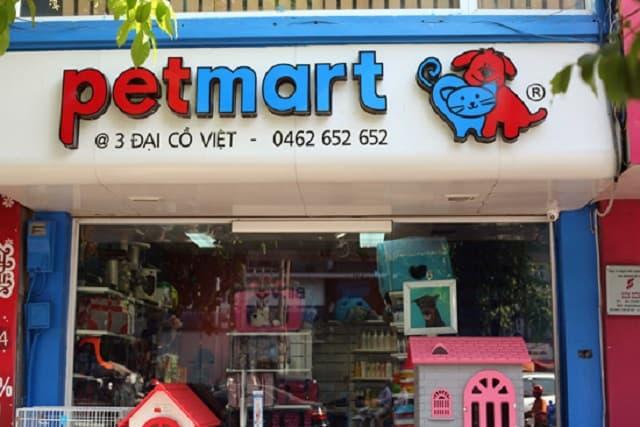 Cửa hàng Pet Mart có nhiều chi nhánh tại Hà Nội để các bạn lựa chọn