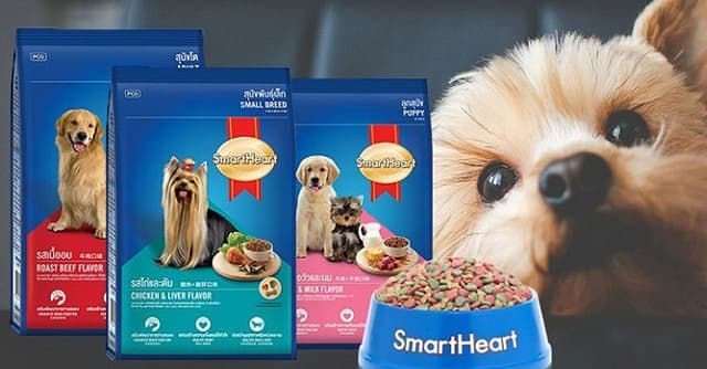 Thức ăn cho chó smartheart có nguồn gốc từ Thái Lan
