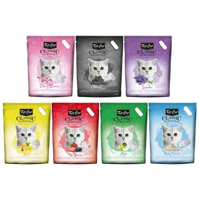Thương hiệu cát vệ sinh dạng thủy tinh KitCat dành cho mèo